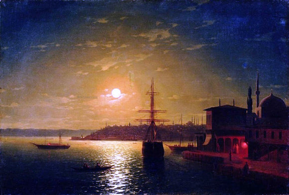 Ivan Constantinovich Aivazovsky The Bay Golden Horn, Turkey - Canvas Art Print