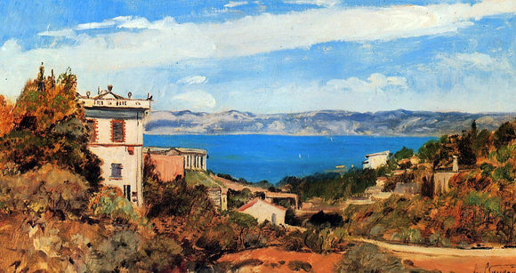 Paul-Camille Guigou The Bay of Marseille, Saint-Henri - Canvas Art Print