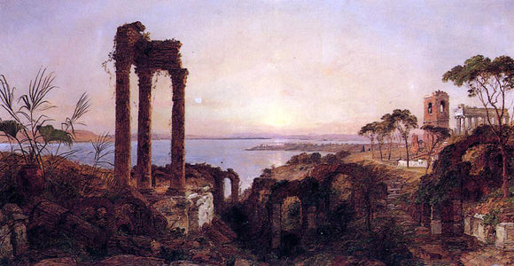 Jasper Francis Cropsey The Bay of Naples - Canvas Art Print