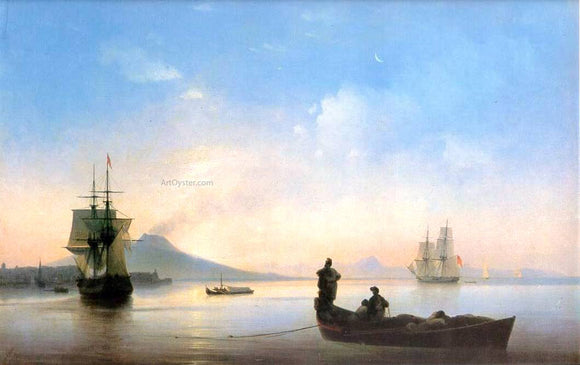 Ivan Constantinovich Aivazovsky The Bay of Naples on morning - Canvas Art Print