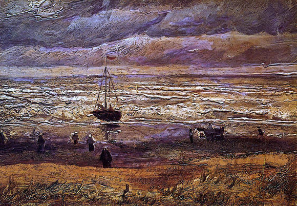 Vincent Van Gogh The Beach at Scheveningen - Canvas Art Print
