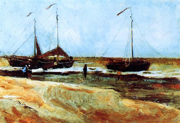 Vincent Van Gogh The Beach at Scheveningen in Calm Weather - Canvas Art Print