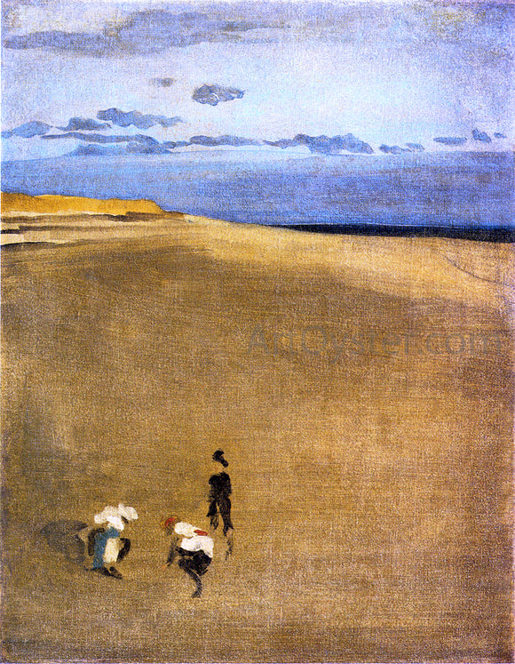 James McNeill Whistler The Beach at Selsey Bill - Canvas Art Print