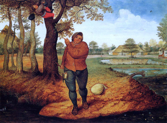 The Younger Pieter Bruegel The Beater - Canvas Art Print