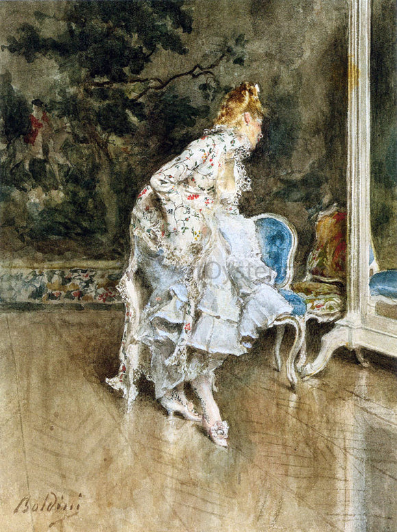 Giovanni Boldini The Beauty Before The Mirror - Canvas Art Print