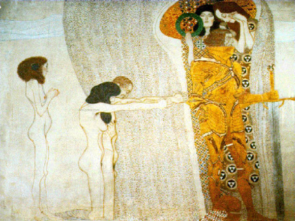 Gustav Klimt The Beethoven Frieze - Canvas Art Print