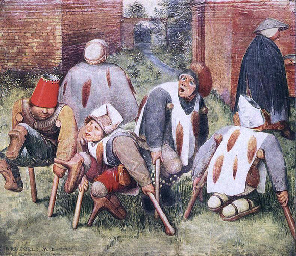 The Elder Pieter Bruegel The Beggars - Canvas Art Print