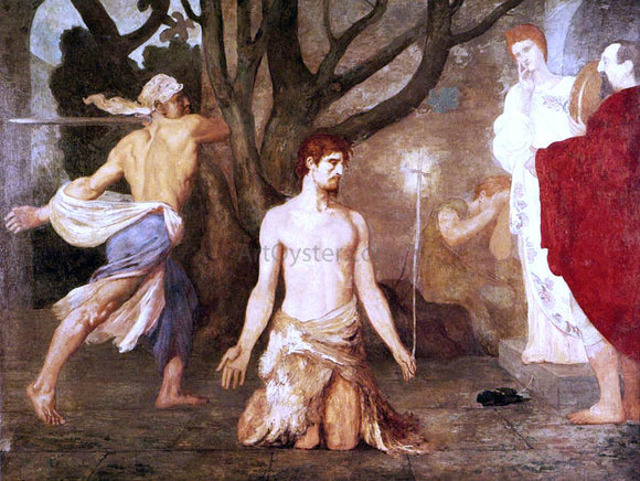 Pierre Puvis De Chavannes The Beheading of St John the Baptist - Canvas Art Print
