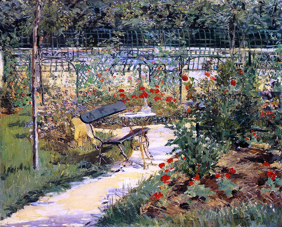 Edouard Manet The Bench (also known as My Garden) - Canvas Art Print