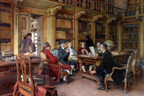 Tito-Giovanni Lessi The Bibliophiles - Canvas Art Print