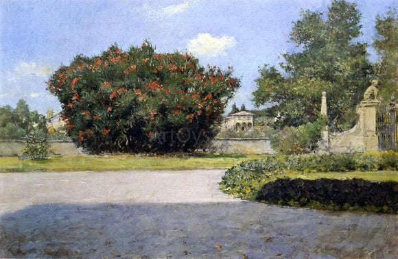 William Merritt Chase The Big Oleander - Canvas Art Print