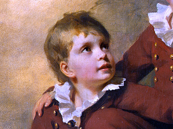 Sir Henry Raeburn The Binning Children [detail #2] - Canvas Art Print