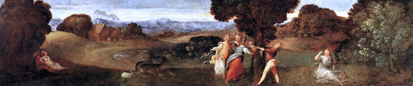 Titian The Birth of Adonis - Canvas Art Print