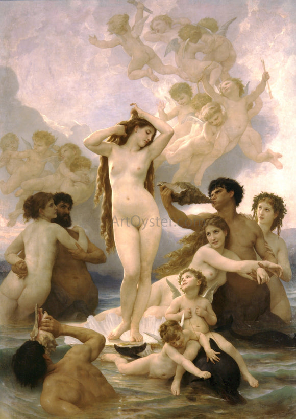 William Adolphe Bouguereau The Birth of Venus - Canvas Art Print