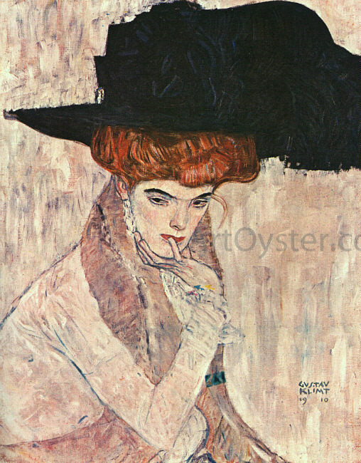 Gustav Klimt The Black Feather Hat - Canvas Art Print