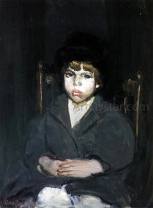 George Luks The Black Hat - Canvas Art Print