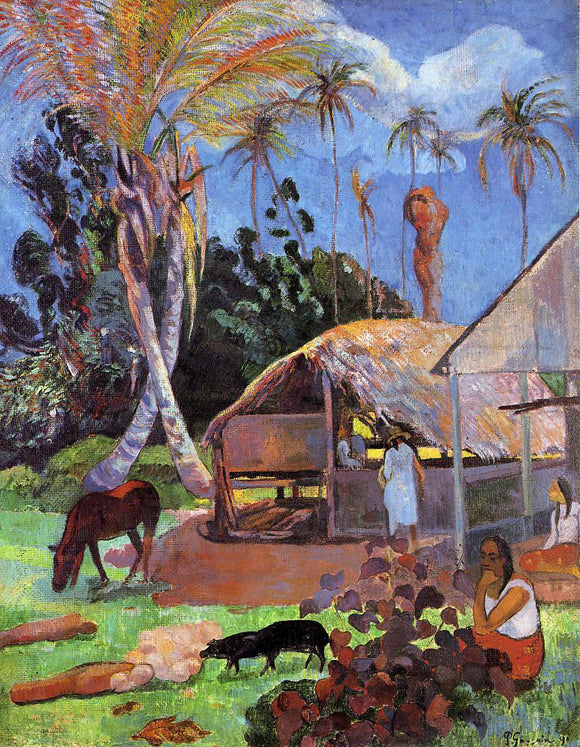 Paul Gauguin The Black Pigs - Canvas Art Print