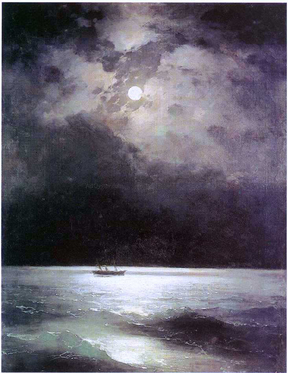 Ivan Constantinovich Aivazovsky The Black Sea at Night - Canvas Art Print