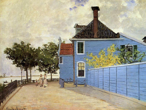 Claude Oscar Monet The Blue House at Zaandam - Canvas Art Print