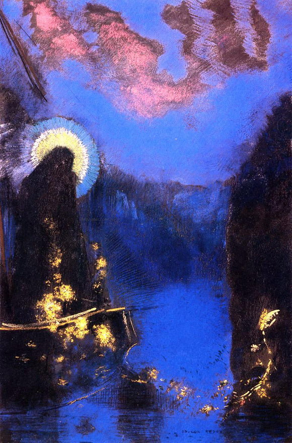 Odilon Redon The Boat (also known as Virgin with Corona) - Canvas Art Print