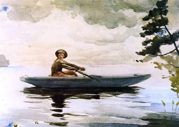 Winslow Homer The Boatsman - Canvas Art Print