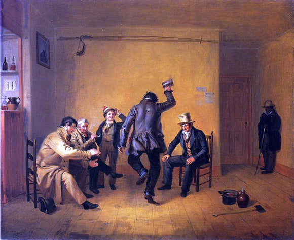 William Sidney Mount The Breakdown (also known as Bar-room Scene) - Canvas Art Print