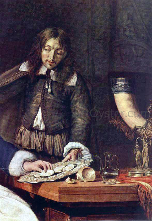 Gabriel Metsu The Breakfast (detail) - Canvas Art Print