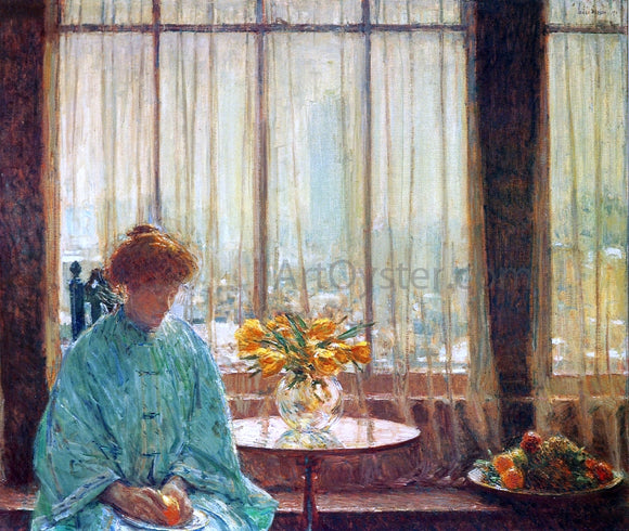 Frederick Childe Hassam The Breakfast Room, Winter Morning - Canvas Art Print