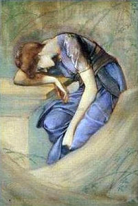 Sir Edward Burne-Jones The Briar Rose: The Garden Court (study) - Canvas Art Print