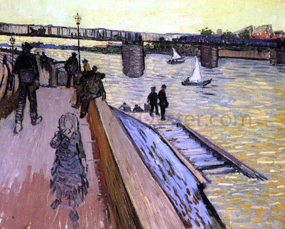 Vincent Van Gogh The Bridge at Trinquetaille - Canvas Art Print