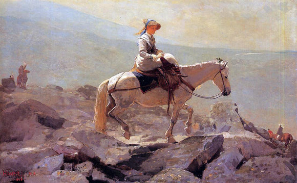Winslow Homer The Bridle Path, White Mountains - Canvas Art Print