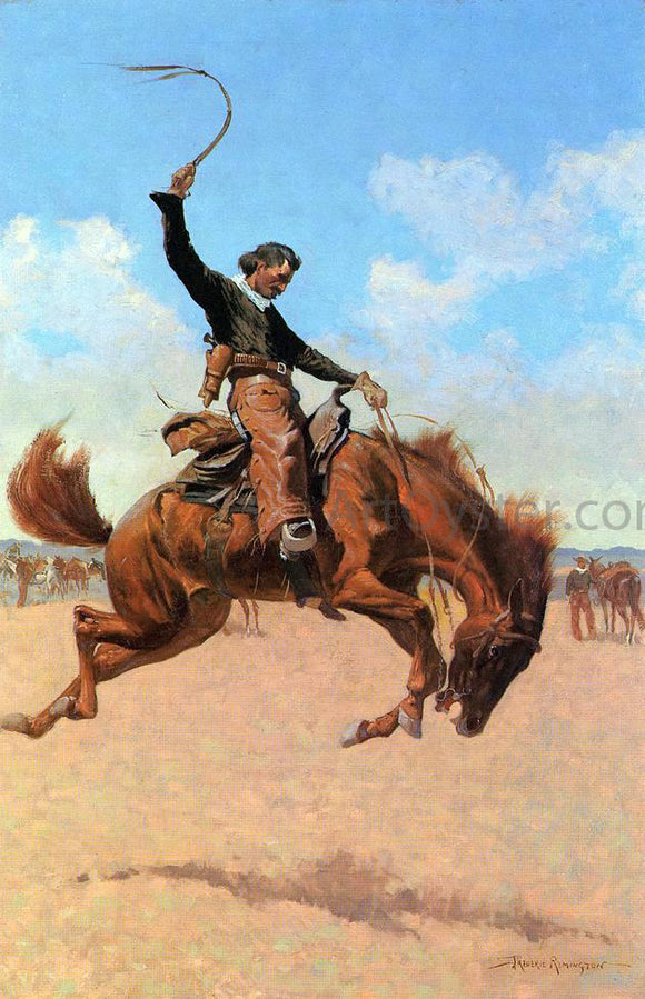 Frederic Remington The Bronco Buster - Canvas Art Print