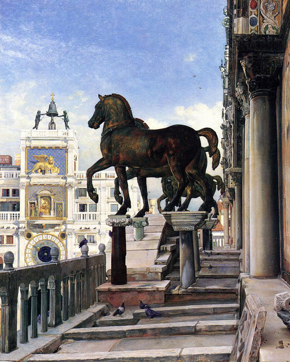 Charles Caryl Coleman The Bronze Horses of San Marco - Canvas Art Print