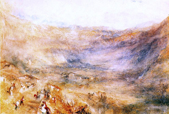Joseph William Turner The Brunig Pass, from Meringen - Canvas Art Print