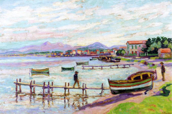 Armand Guillaumin The Brusc - Canvas Art Print