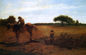Winslow Homer The Brush Harrow - Canvas Art Print