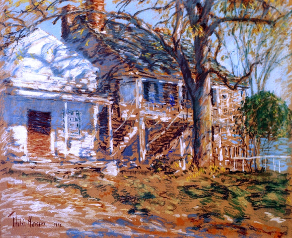 Frederick Childe Hassam The Brush House - Canvas Art Print