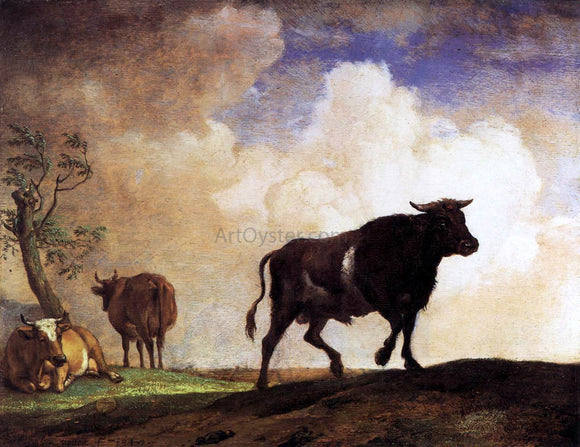 Paulus Potter The Bull - Canvas Art Print