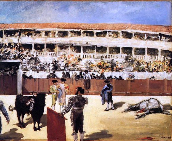 Edouard Manet The Bullfight - Canvas Art Print