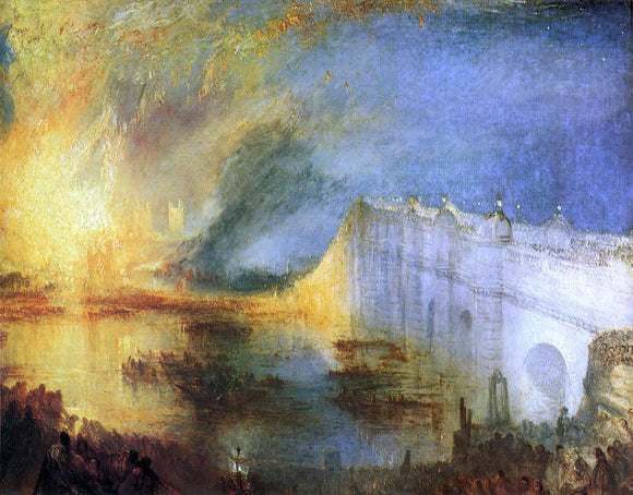 Joseph William Turner The Burning of the House of Lords and Commons, 16th October, 1834 - Canvas Art Print