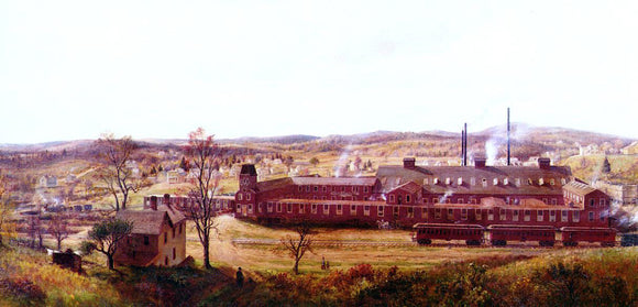 Edward Lamson Henry The Butler Hard Rubber Factory - Canvas Art Print