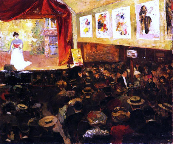 Louis Abel-Truchet The Cafe-Concert - Canvas Art Print