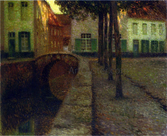Henri Le Sidaner The Canal - Canvas Art Print