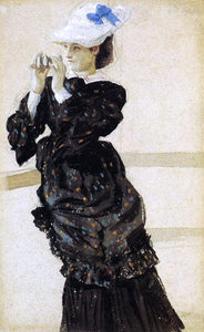 James Tissot The Captain's Daughter - Canvas Art Print
