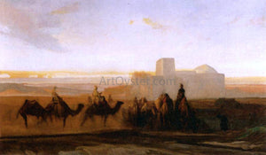 Alexandre Gabriel Decamps The Caravan - Canvas Art Print