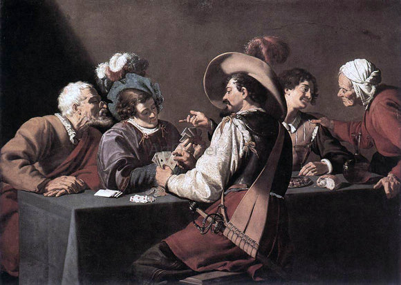 Theodoor Rombouts The Card Players - Canvas Art Print