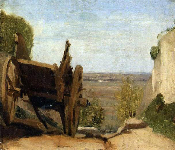 Jean-Baptiste-Camille Corot The Cart - Canvas Art Print