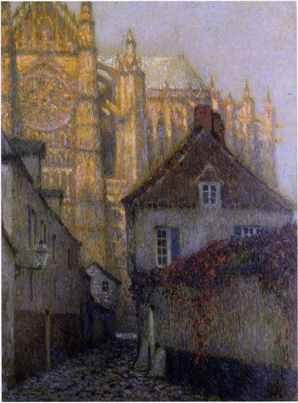 Henri Le Sidaner The Cathedral at Beauvais - Canvas Art Print