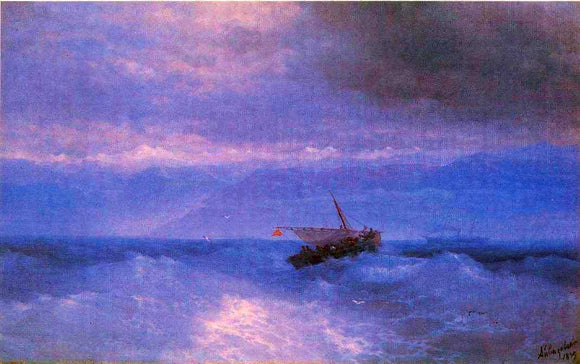 Ivan Constantinovich Aivazovsky The Caucasian Range from the Sea - Canvas Art Print