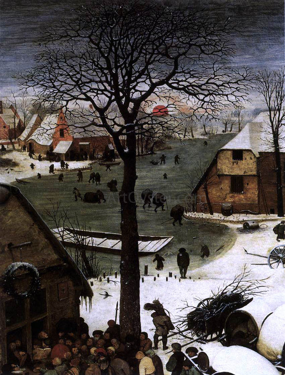 The Elder Pieter Bruegel The Census at Bethlehem (detail) - Canvas Art Print